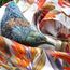 New Zealand Flax & Tui Silk Scarf